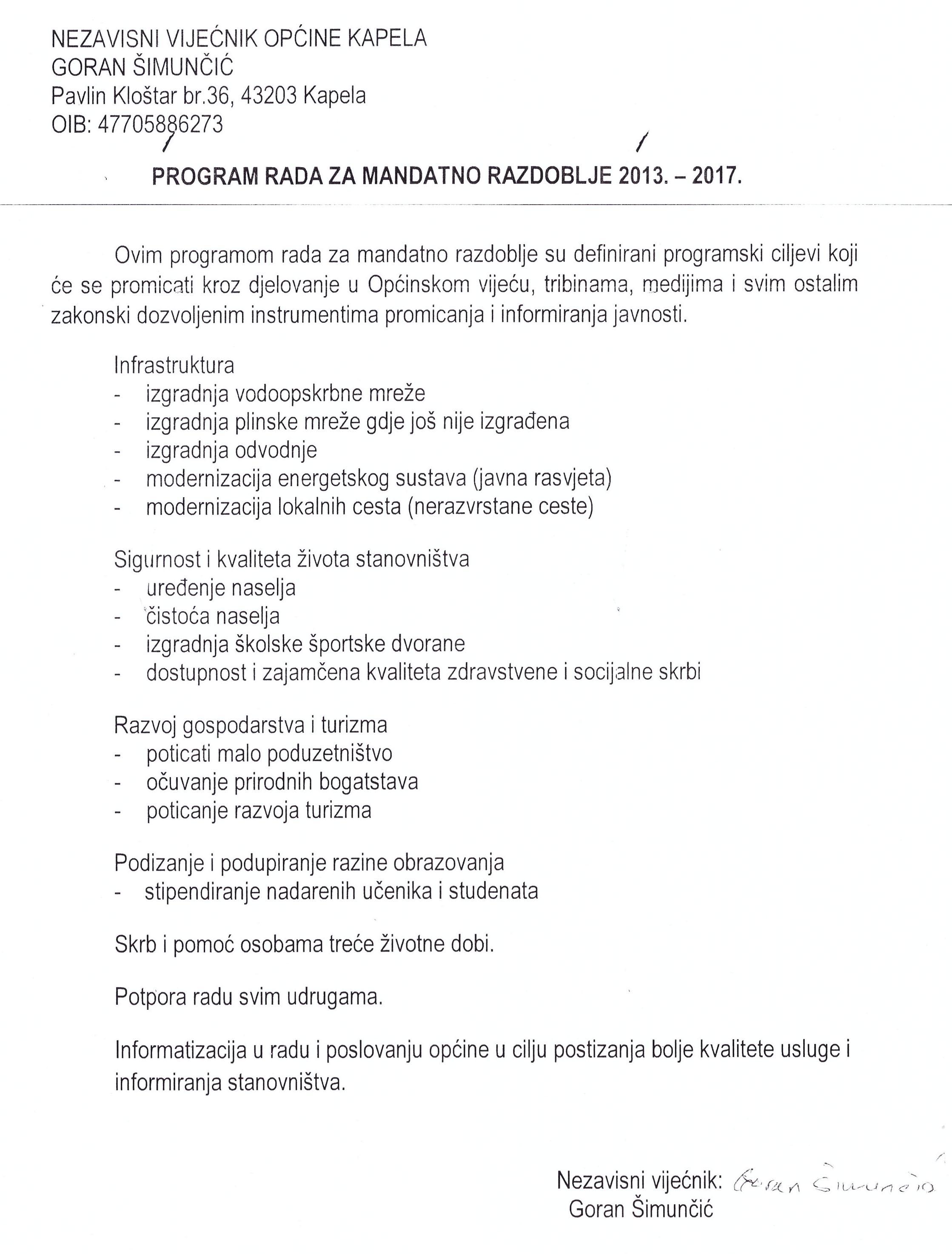 Program rada